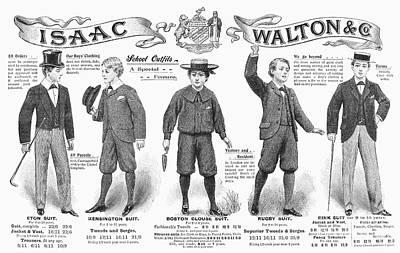 Photograph - Boys Fashion, 1897 by Granger