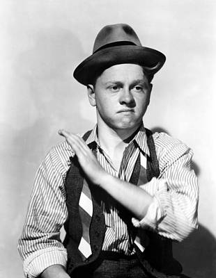1938 Movies Photograph - Boys Town, Mickey Rooney, 1938 by Everett