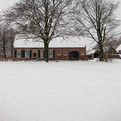 Snow Photograph - Brabant House by Nop Briex
