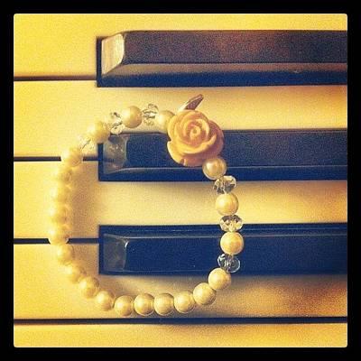 Piano Wall Art - Photograph - #bracelet #piano #rose #new by Elitsa Bakalova