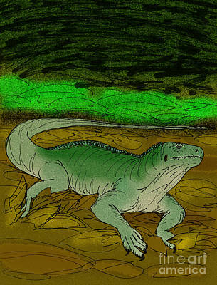 Tonga Digital Art - Brachylophus Gibbonsi by Stanton Fink