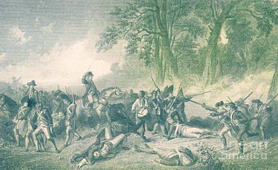 Seven Years War Photograph - Braddocks Defeat, 1755 by Photo Researchers
