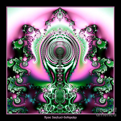 Surrealism Royalty-Free and Rights-Managed Images - Brain Power Full of Ideas Fractal 117 by Rose Santuci-Sofranko
