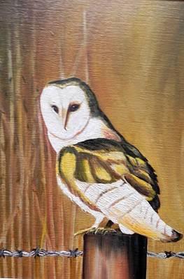 Bran Owl Art Print by Usha Rai