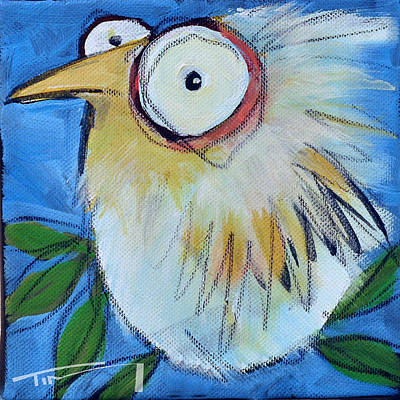 Funny Painting - Branch Bird 6 by Tim Nyberg
