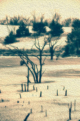 Branched Reprieve Art Print by Bill Tiepelman
