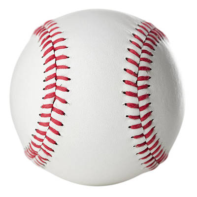 Y120831 Photograph - Brand New, Clean Baseball, Isolated On White by Jill Fromer