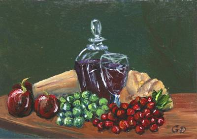Gail Daley Wall Art - Painting - Brandy And Onions by Gail Daley