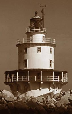 Brandywine Shoal Lighthouse Art Print by Skip Willits