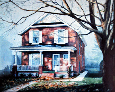 Of Our House Painting - Brant Avenue Home by Hanne Lore Koehler