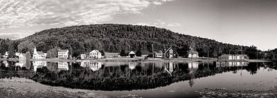 Photograph - Brant Lake Reflections Black And White by Joshua House