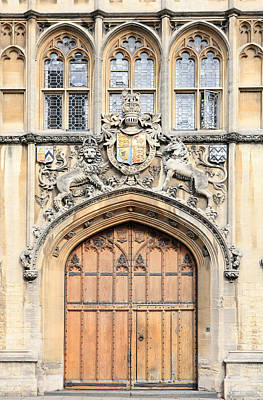 Photograph - Brasenose College Entrance by Paul Cowan