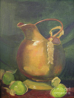 Painting - Brass And Tomatillos by Lilibeth Andre