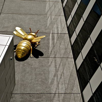 Photograph - Brass Bee Sculpture by Kirsten Giving