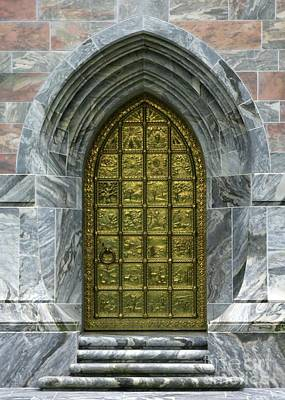Photograph - Brass Book Of Genesis Door by Sabrina L Ryan