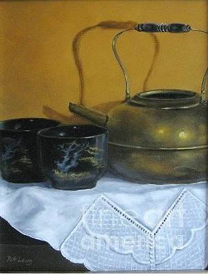 Painting - Brass Kettle by Patricia Lang