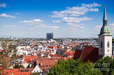 Photograph - Bratislava Roofs by Les Palenik