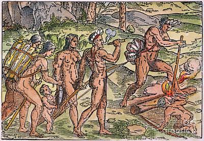 Brazil: Fishing, 1558 Art Print by Granger