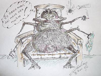 Brazilian Wandering Spider Art Print by Paul Chestnutt