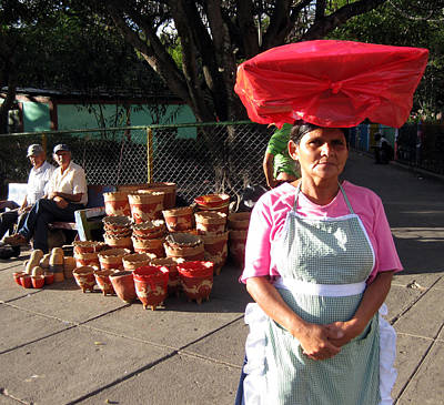 Photograph - Bread Lady And Pot Men by Sarah Hornsby