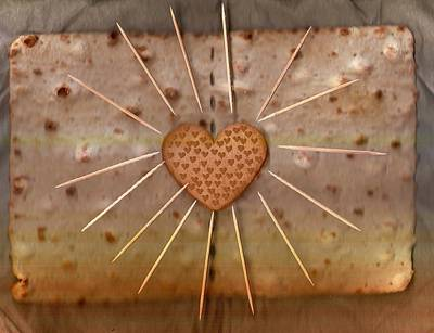 Abstract Hearts Mixed Media - Bread  Sunshine And Love by Pepita Selles