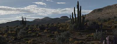 Desert Digital Art - Break Of Dawn by Robert Choronzuk