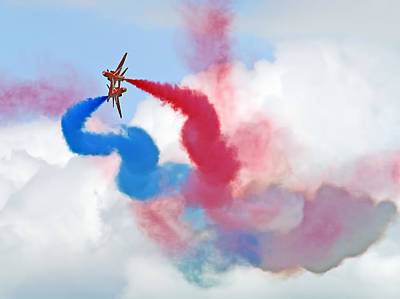 Break  Red Arrows - Dunsfold 2012 Art Print by Colin J Williams Photography