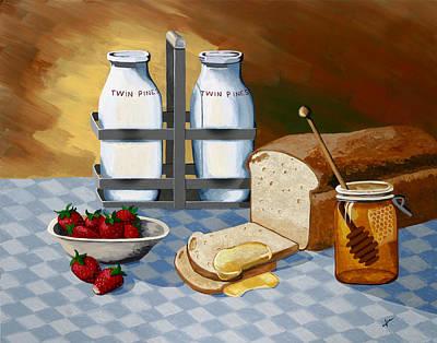 Breakfast Art Print by Jennifer  Donald
