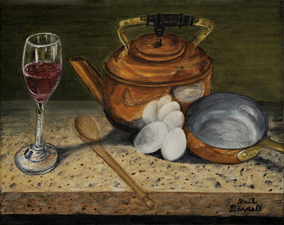Breakfast Preparation Original by Gail Darnell