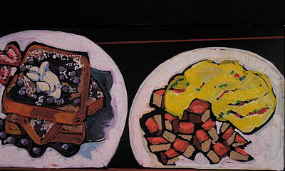 Pastel - Breakfast Still Life by Doris  Lane Grey