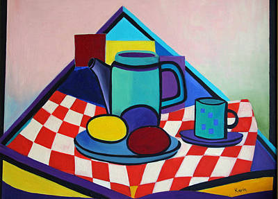 Painting - Breakfast With Eggs by Karin Eisermann