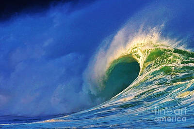Seascape Photograph - Breaking Dawn by Paul Topp