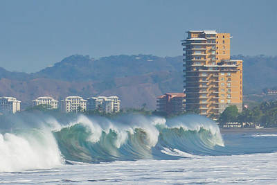 Photograph - Breaking Waves In Costa Rica by Anthony Doudt