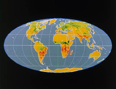 'breathing Earth' Co2 Input/output, Global Map Print by Nasa