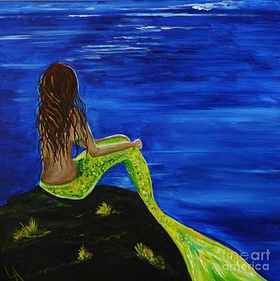 Of A Siren Painting - Breathtaking Mermaid by Leslie Allen