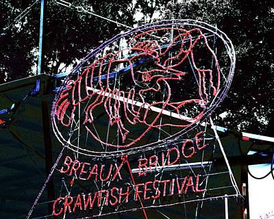 Breaux Bridge Crawfish Festival Art Print by Lizi Beard-Ward