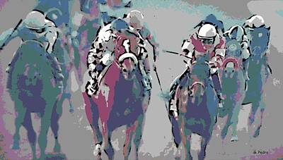 Photograph - Breeders Cup Race by George Pedro