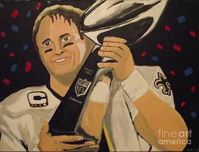 Drew Brees Painting - Brees And Lombardi by Simon Hardesty