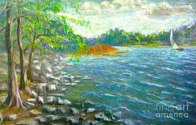 Pastel - Breezy Galts Ferry by Gretchen Allen