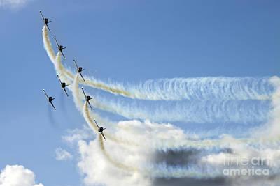 Breitling Photograph - Breitling Jet Team by Angel  Tarantella
