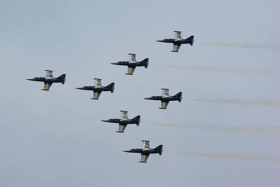 Photograph - Breitling Jet Team by Tim Beach