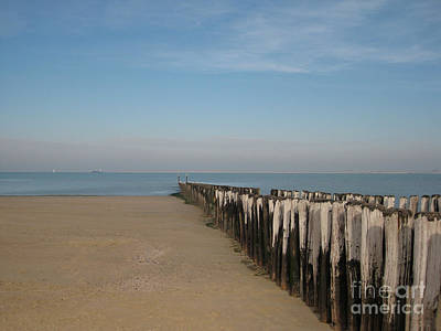 Holland Photograph - Breskens Beach In Holland by Nop Briex