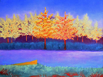Painting - Brians Lake by Karin Eisermann