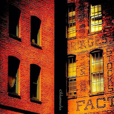 Architecture Wall Art - Photograph - Brick & Glass by Matthew Blum