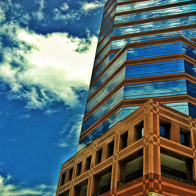 Photograph - Brick Glass Sky by Gene Hilton