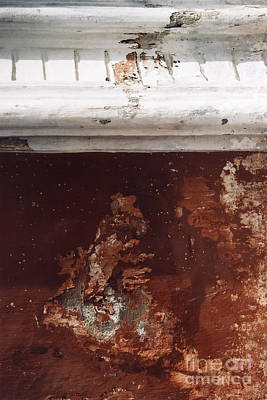Print featuring the photograph Brick Red Wall Detail by Agnieszka Kubica
