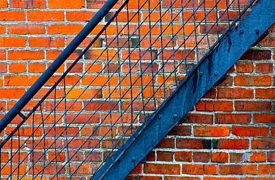 Photograph - Bricks And Steel by Karon Melillo DeVega