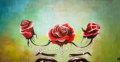 Bridal Roses  Art Print