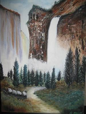 Bridal Veil Falls Painting - Bridal Veil Falls by Sharon Hatley