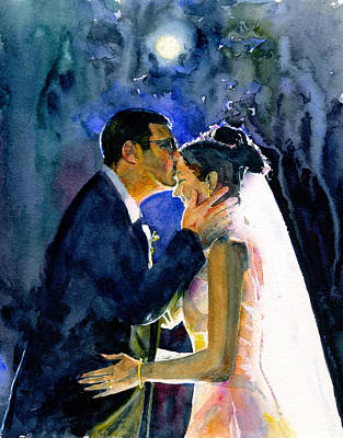 Painting - Bride And Groom by John D Benson